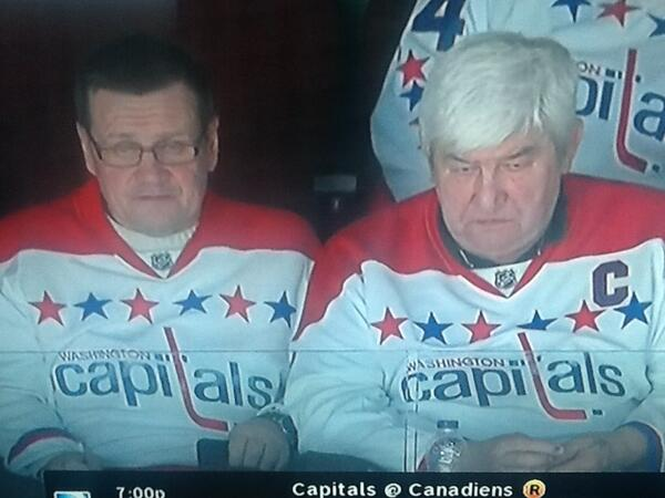 The Russian Dad's Don't Look Please (Orlov Left, Ovechkin Right) Pic from Ian Oland